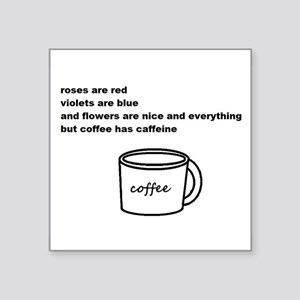 "Ode to Coffee Square Sticker 3"" x 3"""