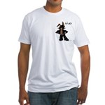 Biker Bunny Fitted T-Shirt