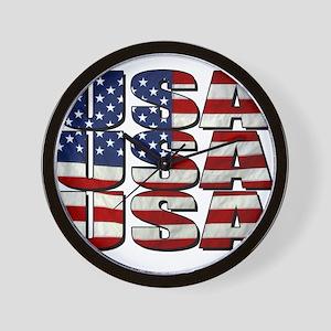 USA USA USA 4th July Wall Clock