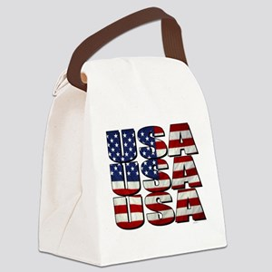 USA USA USA 4th July Canvas Lunch Bag