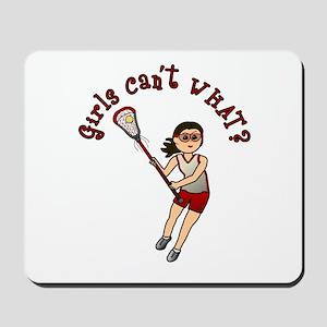 Girls Lacrosse Red Mousepad