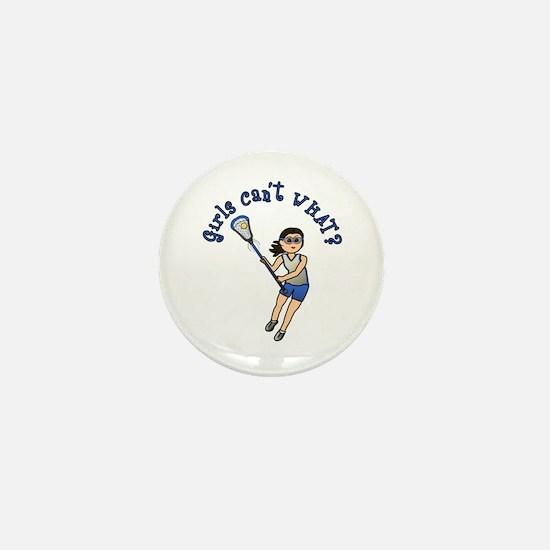 Girls Lacrosse Blue Mini Button