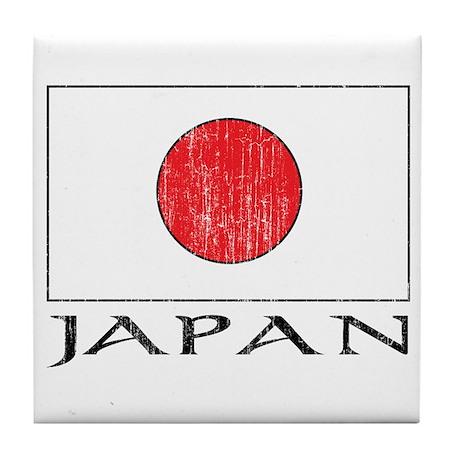 Japan Flag Tile Coaster
