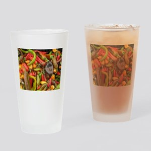 many different peppers Drinking Glass