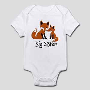 Big Sister - Mod Fox Infant Bodysuit