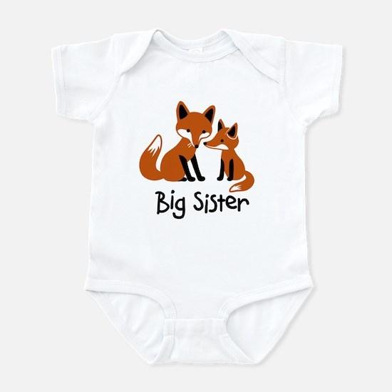 Big Sister - Mod Fox Infant Bodysuit