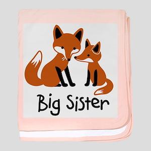 Big Sister - Mod Fox baby blanket