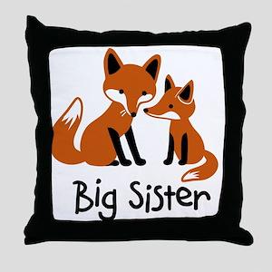 Big Sister - Mod Fox Throw Pillow