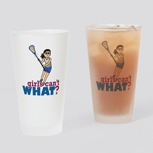 Girl Lacrosse Player in Blue Drinking Glass
