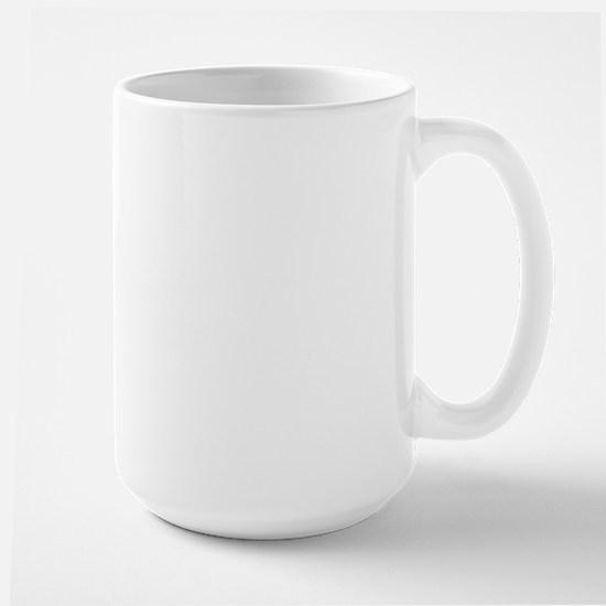 Girl Lacrosse Player in Blue Large Mug