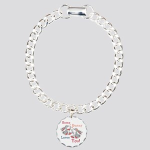 Some Bunny Loves You Charm Bracelet, One Charm