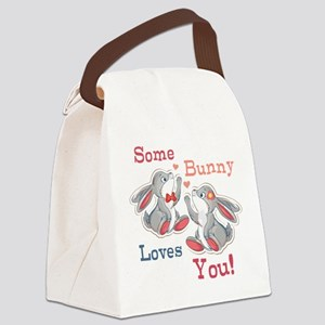 Some Bunny Loves You Canvas Lunch Bag