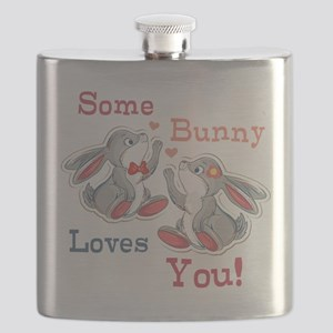 Some Bunny Loves You Flask