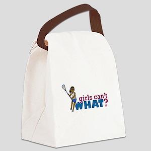 Lacrosse Girls Blue Uniform Canvas Lunch Bag