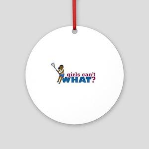 Lacrosse Girls Blue Uniform Ornament (Round)