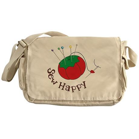 Sew Happy Messenger Bag