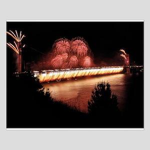 Fireworks - Golden Gate Bridge Small Poster