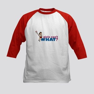 Girl Lacrosse Player Red Uniform Kids Baseball Jer