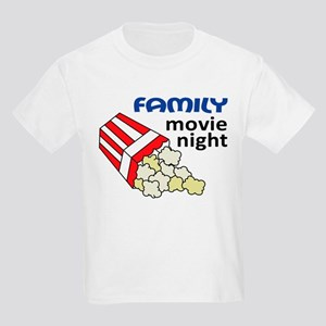 Family Movie Night Kids Light T-Shirt