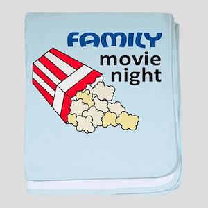 Family Movie Night baby blanket