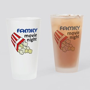 Family Movie Night Drinking Glass