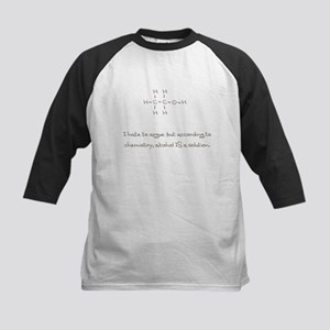 Alcohol is a solution Kids Baseball Jersey