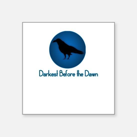 Darkest Before the Dawn black crow raven tee Squar
