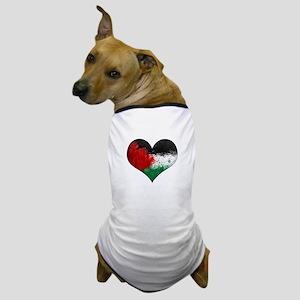 Palestine Heart Dog T-Shirt