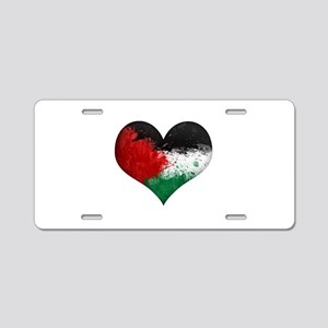 Palestine Heart Aluminum License Plate