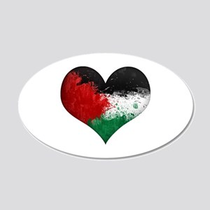 Palestine Heart 20x12 Oval Wall Decal
