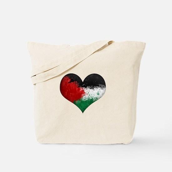 Palestine Heart Tote Bag