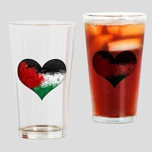 Palestine Heart Drinking Glass
