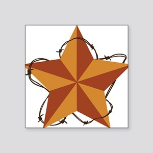 "Country Western Star Square Sticker 3"" x 3"""