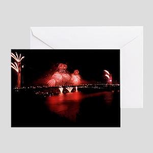 Fireworks - GG Bridge Greeting Card
