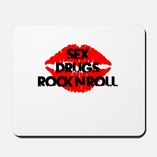 sex drugs and rock n roll party club tee Mousepad