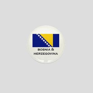 Bosnia & Herzegovina Flag Stuff Mini Button