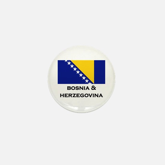 Bosnia & Herzegovina Flag Stuff Mini Button