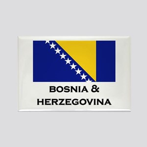 Bosnia & Herzegovina Flag Stuff Rectangle Magnet