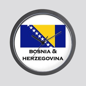 Bosnia & Herzegovina Flag Stuff Wall Clock