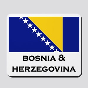 Bosnia & Herzegovina Flag Stuff Mousepad