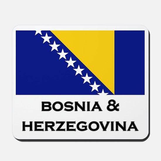 Bosnia & Herzegovina Flag Stuff Mousepad