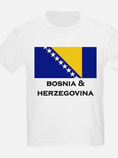 Bosnia & Herzegovina Flag Stuff Kids T-Shirt