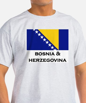 Bosnia & Herzegovina Flag Stuff Ash Grey T-Shirt