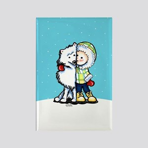 Eskimo Kisses Rectangle Magnet