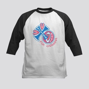 Hugs and Kisses for Grandma Kids Baseball Jersey
