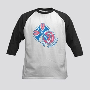 Hugs and Kisses for Grandpa Kids Baseball Jersey