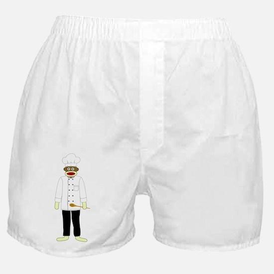 Sock Monkey Chef Boxer Shorts