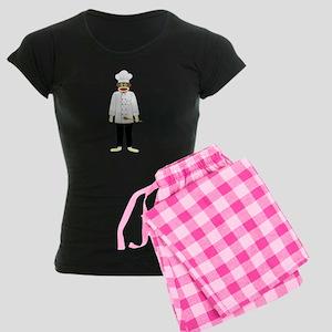 Sock Monkey Chef Women's Dark Pajamas