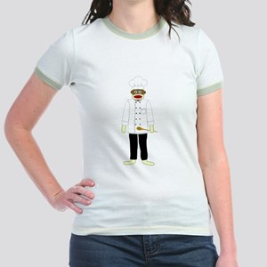 Sock Monkey Chef Jr. Ringer T-Shirt