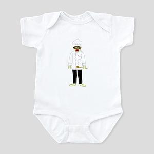 Sock Monkey Chef Infant Bodysuit